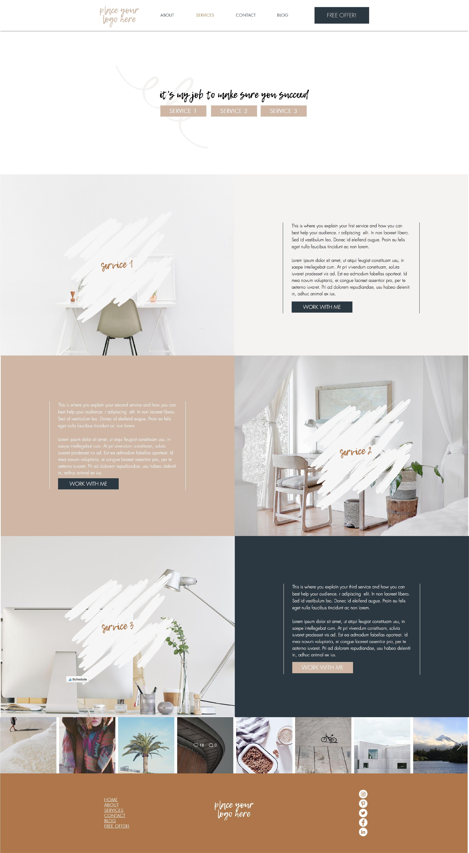 Desert Wix Website Template Tiny Pine Creative Wix Website Templates Wix Website Design Small Business Website Design