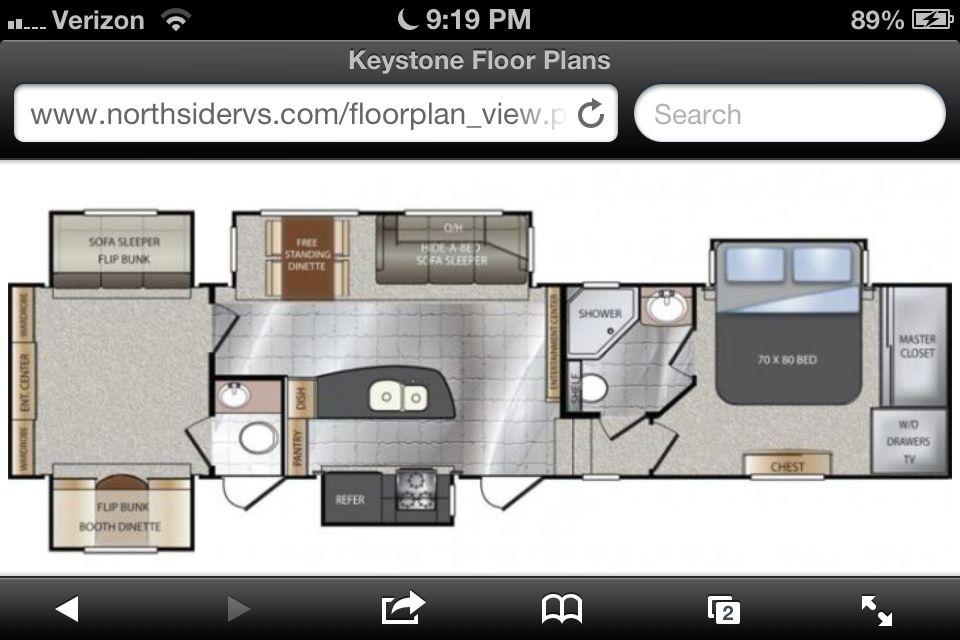 2014 Keystone Avalanche 360rb I Want Please Rv Floor Plans
