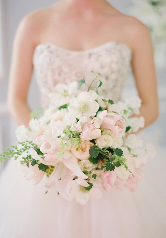 Light Pink And White Wedding Bouquet