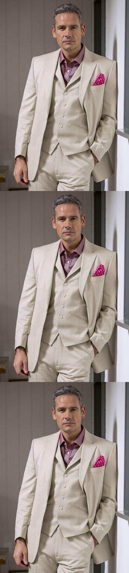 2017 Developed Notch Collar Men Suit Elegant Best Men Bridegroom ...