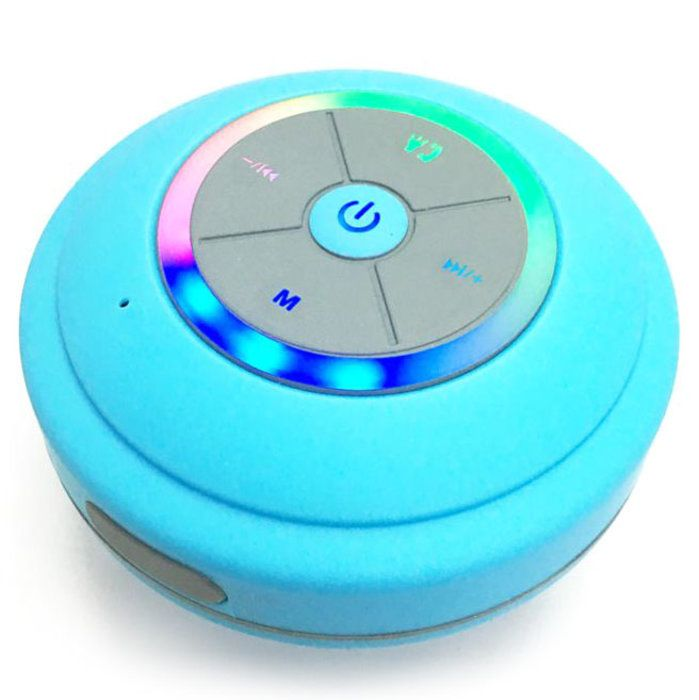 Bluetooth Shower Speaker with FM Radio, Built in Mic and LED Mood Light (5 Colors) for $15 http://sylsdeals.com/bluetooth-shower-speaker-fm-radio-built-mic-led-mood-light-5-colors-15/