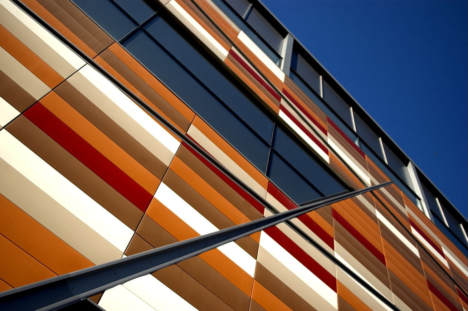 Customised façade by Hunter Douglas helped to give the Tesco store in Sheffield, South Yorkshire, a striking and distinctive look.  #architecture  #hunterdouglas  #façades