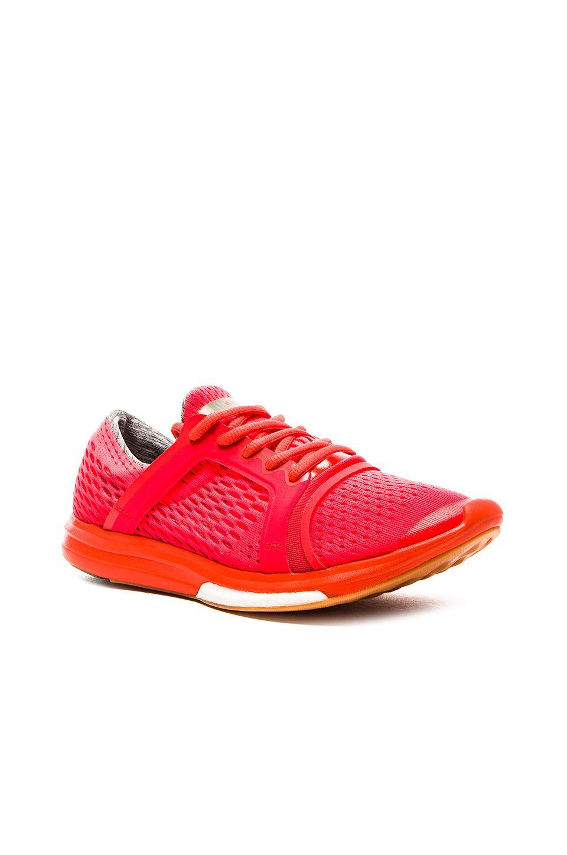 meet b550e 1ab69 adidas by Stella McCartney CC Sonic Running Shoe in Solar Red  Hot Coral