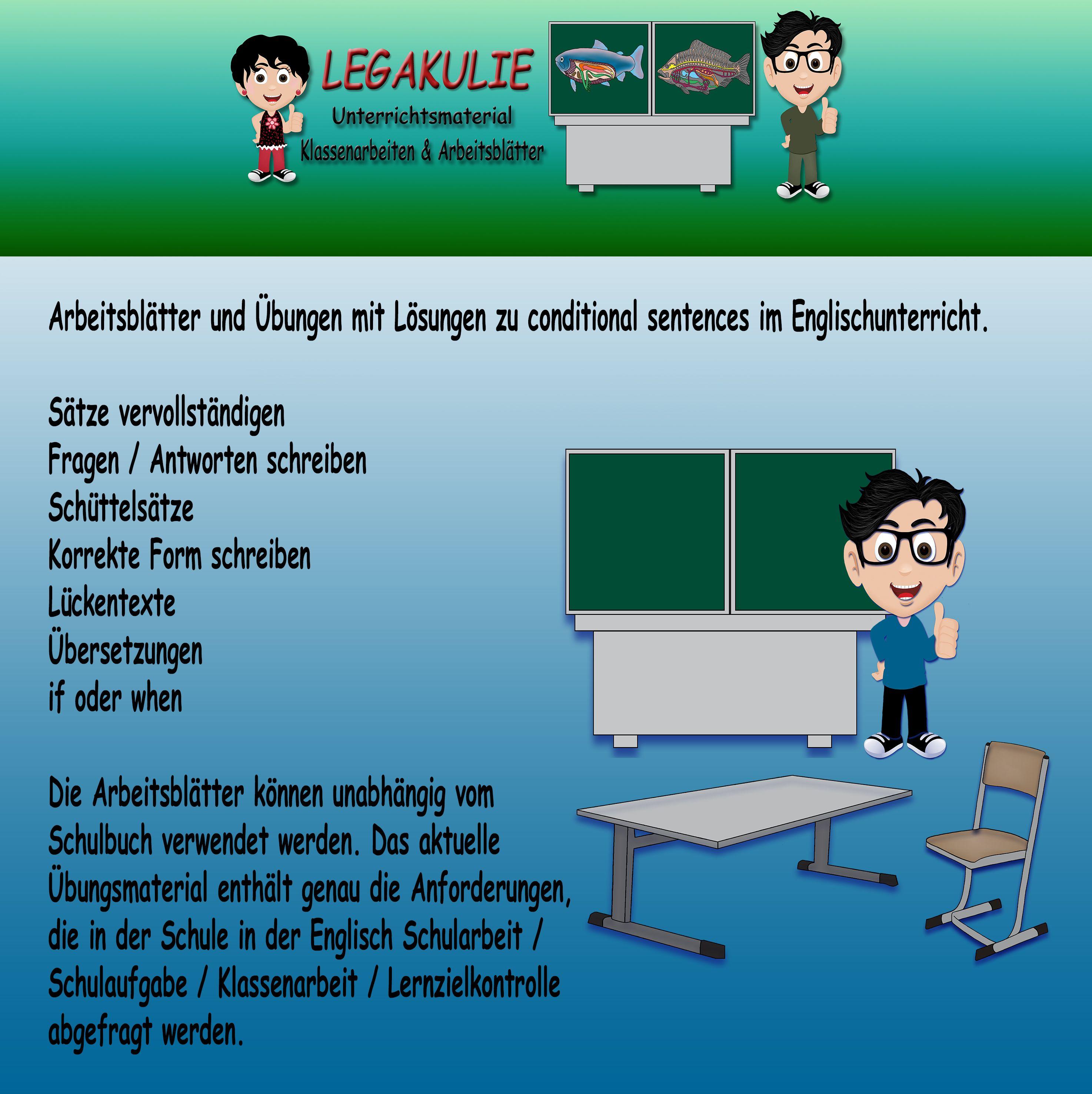 Arbeitsblätter und Übungen mit Lösungen zu conditional sentences im ...