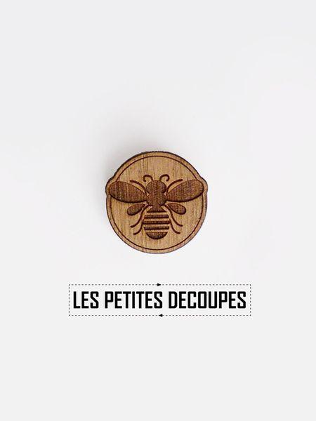 broche en bois abeille les petites d coupes trucs choses cool pinterest abeille. Black Bedroom Furniture Sets. Home Design Ideas