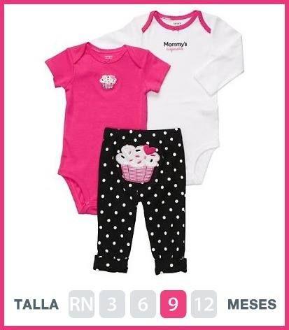 Conjuntos Carters Niños Y Niñas Ropa De Bebé Varon Ropa Bebe Niña Moda Para Bebes