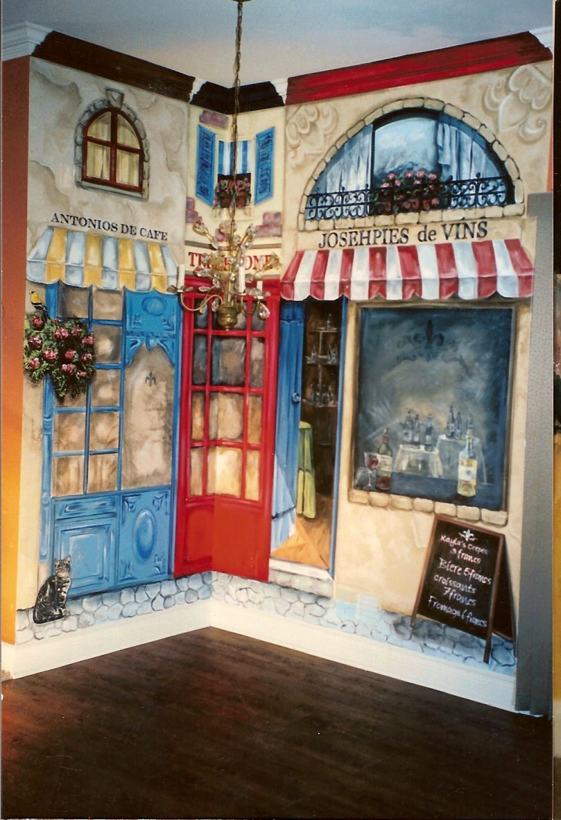 Rochester Bistro Scene Mural Photos In Rochester Michigan Mural Wall Painting Wall Murals