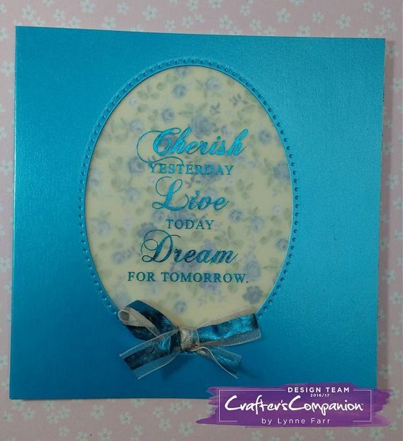 Velum Insert Card made using Crafter's Companion Foil Transfers and Foils – Designed by Lynne Farr #crafterscompanion