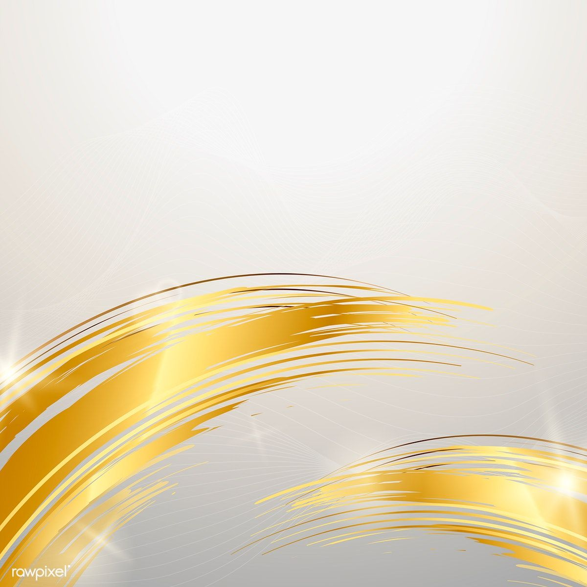 Golden Wave Abstract Background Vector Free Image By Rawpixel Com Kappy Kappy Abstract Backgrounds Vector Art Design Abstract