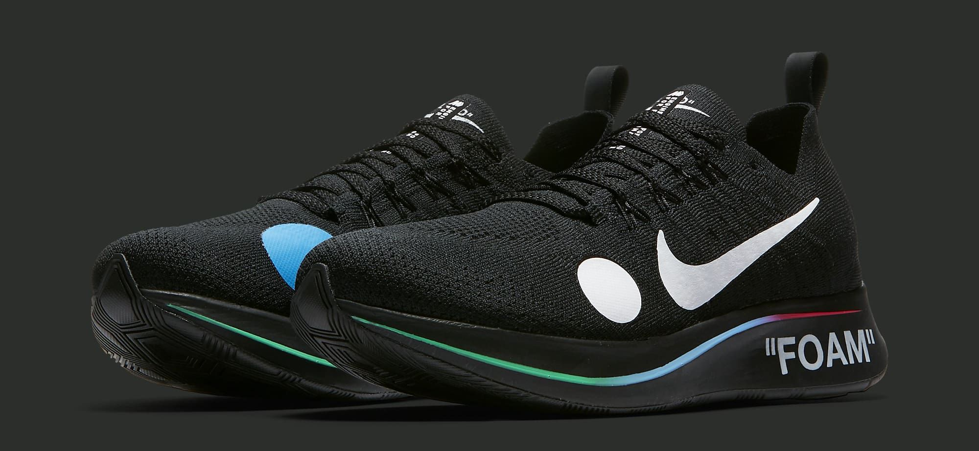 a36e1ff18 Off-White x Nike Zoom Fly Mercurial Flyknit  Black  AO2115-001 (Pair ...