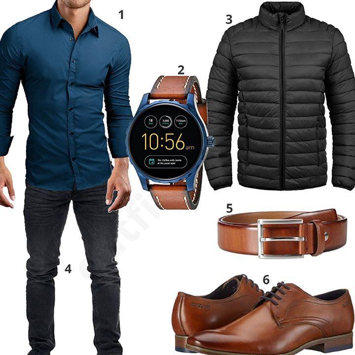 Business Style mit Ledergürtel und Bugatti Schuhen (m0572