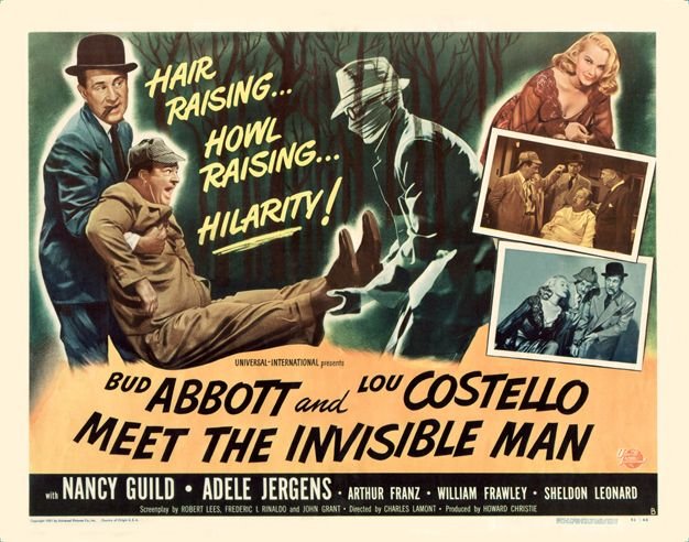 Abbott And Costello Meet The Invisible Man 1951 Poster With