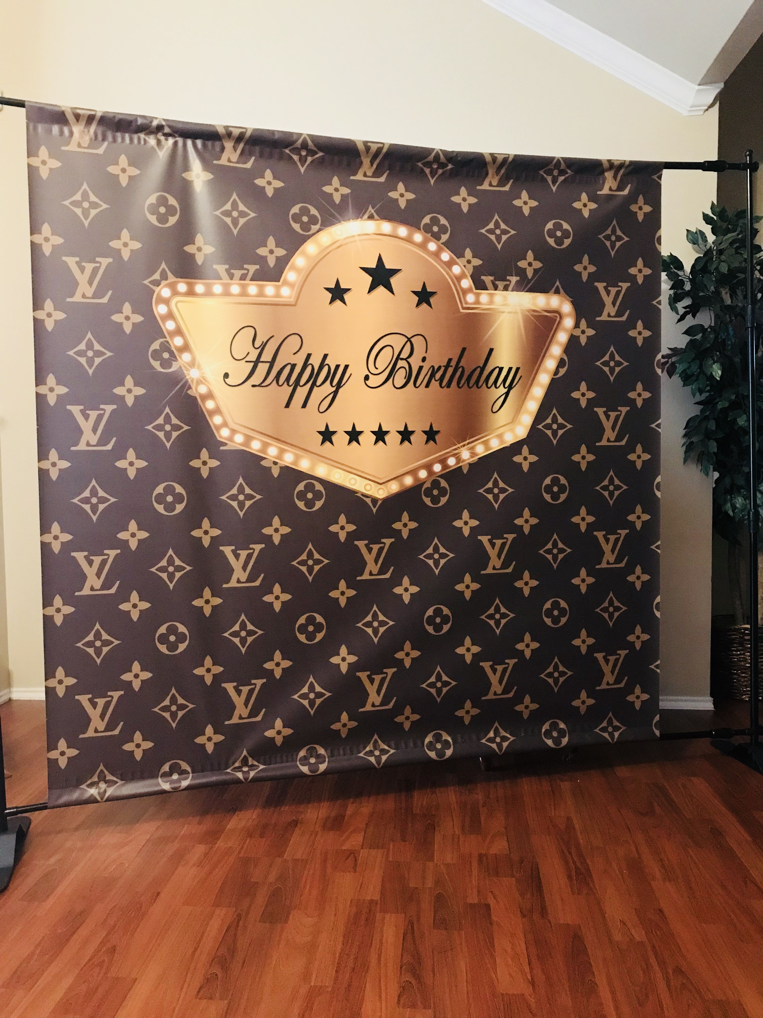 Louis Vuitton Inspired Backdrop Step Amp Repeat Designed