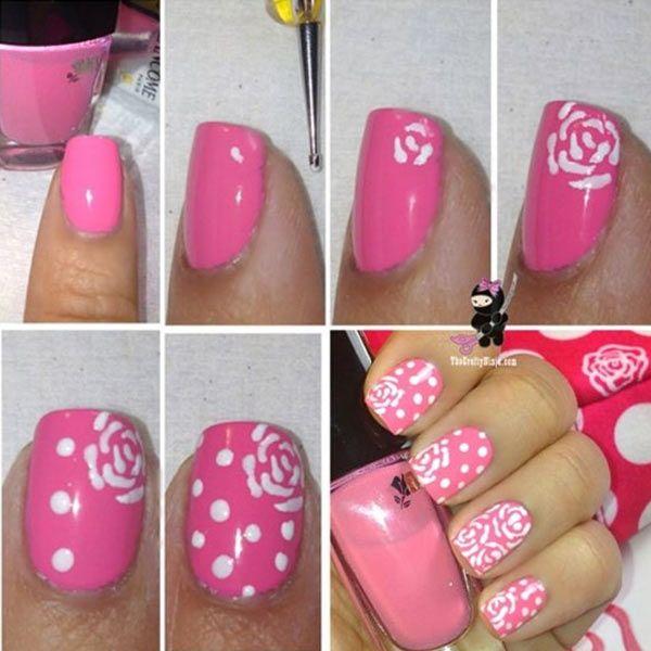 Cómo Hacer Flores En Las Uñas Tutorial Uñasdecoradas Club Uñas Con Flores Uñas Rosas Tutoriales De Manicura Artística