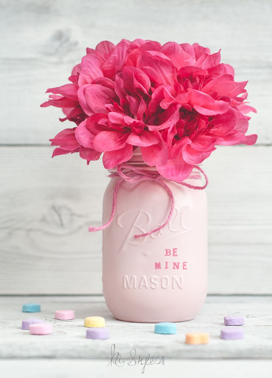 Valentine 39 s day mason jar decor or gift jars jars lush for How to arrange flowers in mason jar