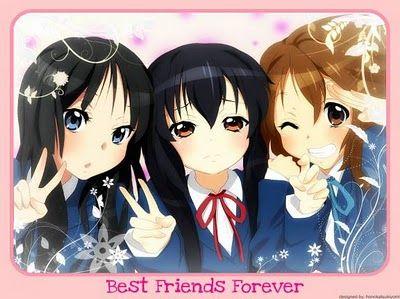 3 Anime Best Friends Best Friend Forever Best Friends