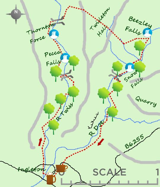 Ingleton falls walk 45 miles short walks pinterest yorkshire ingleton falls walk 45 miles fandeluxe Image collections