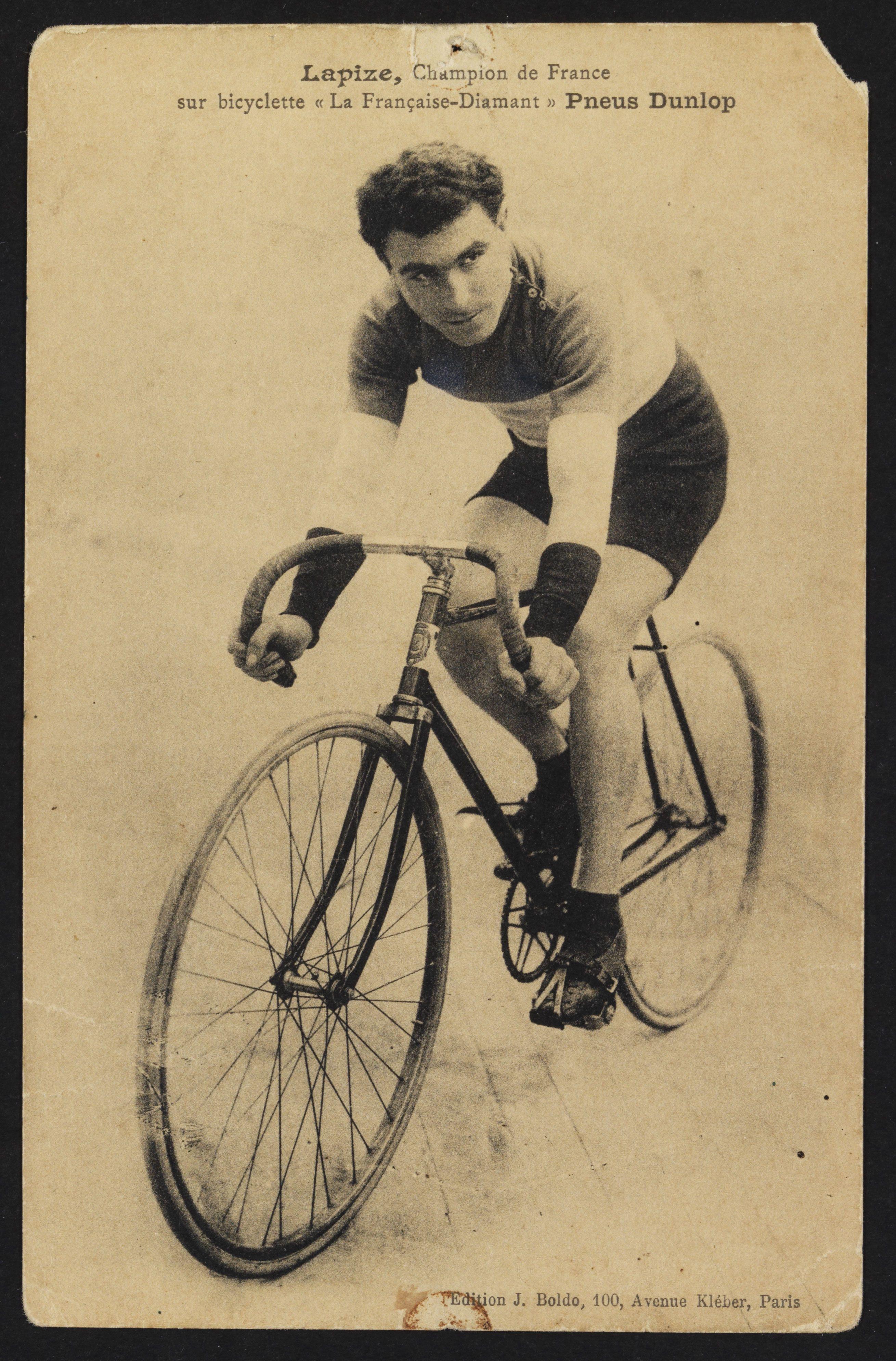 Octave Lapize, champion de France sur bicylcette 'La