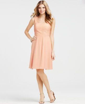 @anntaylor & @stylemepretty bridesmaid  dress -- the color choices make it possible for everyone to where the same color with the best shape for their bodies