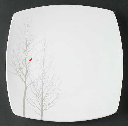 222 Fifth (PTS) Red Cardinal Square Dinner Plate Fine China Dinnerware Red Bi & 222 Fifth (PTS) Red Cardinal Square Dinner Plate Fine China ...