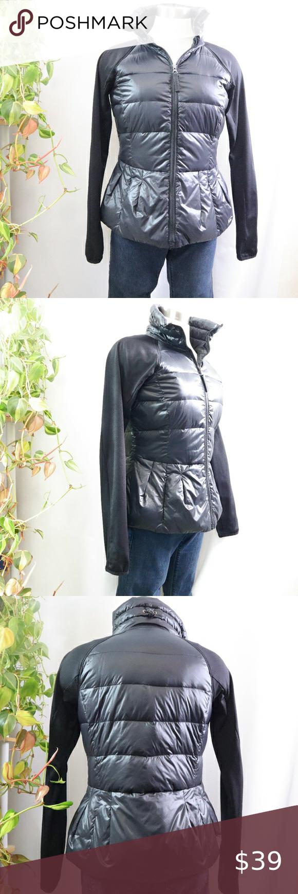 Calvin Klein Performance Peplum Downfeather Puffer Women S Puffer Coats Puffer Jacket Women Black Puffer Coat [ 1740 x 580 Pixel ]