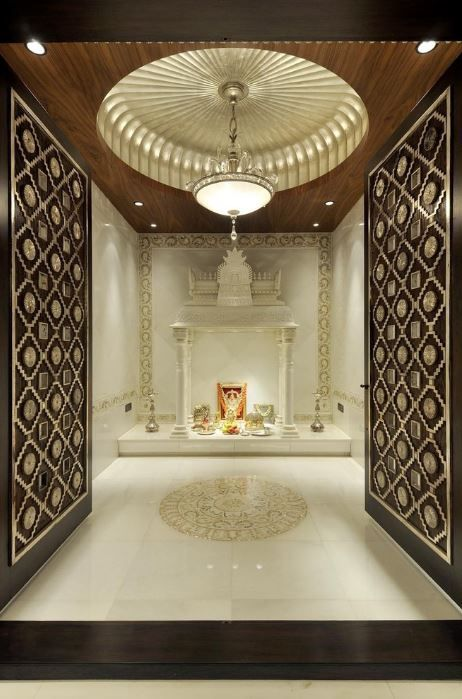 Design of pooja room within a house room house and puja for Pooja room entrance door designs