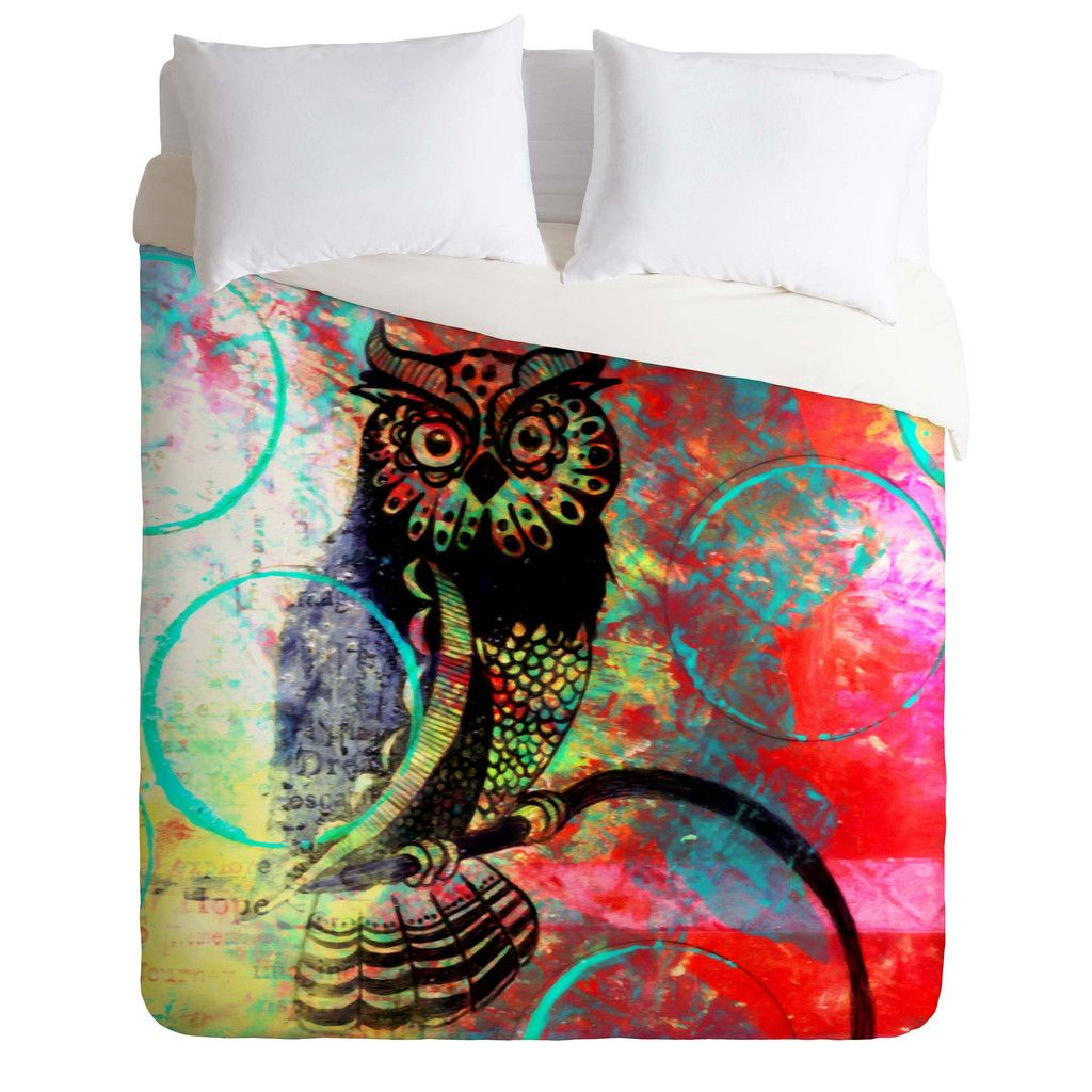 sophia buddenhagen color owl duvet cover  home colors and duvet  - sophia buddenhagen color owl duvet cover