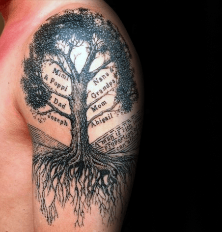 Top 59 Family Tree Tattoo Ideas 2020 Inspiration Guide Tree Tattoo Men Tree Tattoo Arm Tree Roots Tattoo