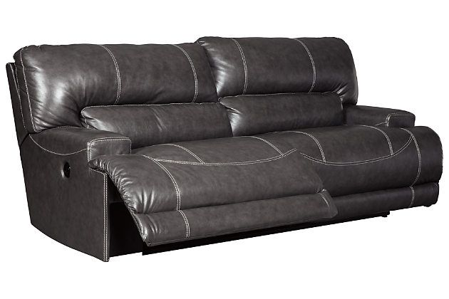 Outstanding Mccaskill Power Reclining Sofa By Ashley Homestore Gray Home Interior And Landscaping Ponolsignezvosmurscom