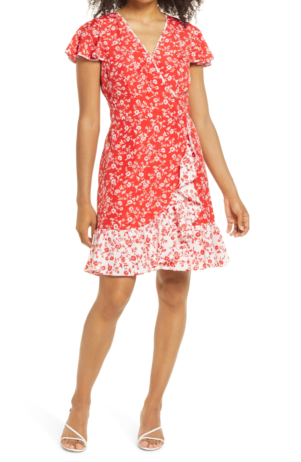 Vince Camuto Floral Faux Wrap Dress Nordstrom Rack Wrap Dress Dresses Faux Wrap Dress [ 1533 x 1000 Pixel ]