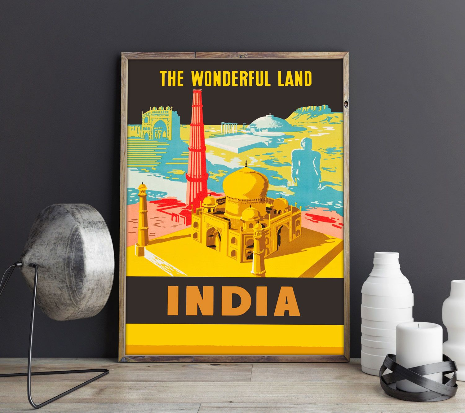 India Travel Poster Indian Art Indian Poster Indian Wall Art Indian ...