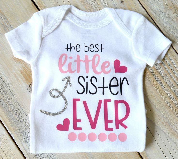 Little Sister Baby Bodysuit Baby Girl New Sister Gift
