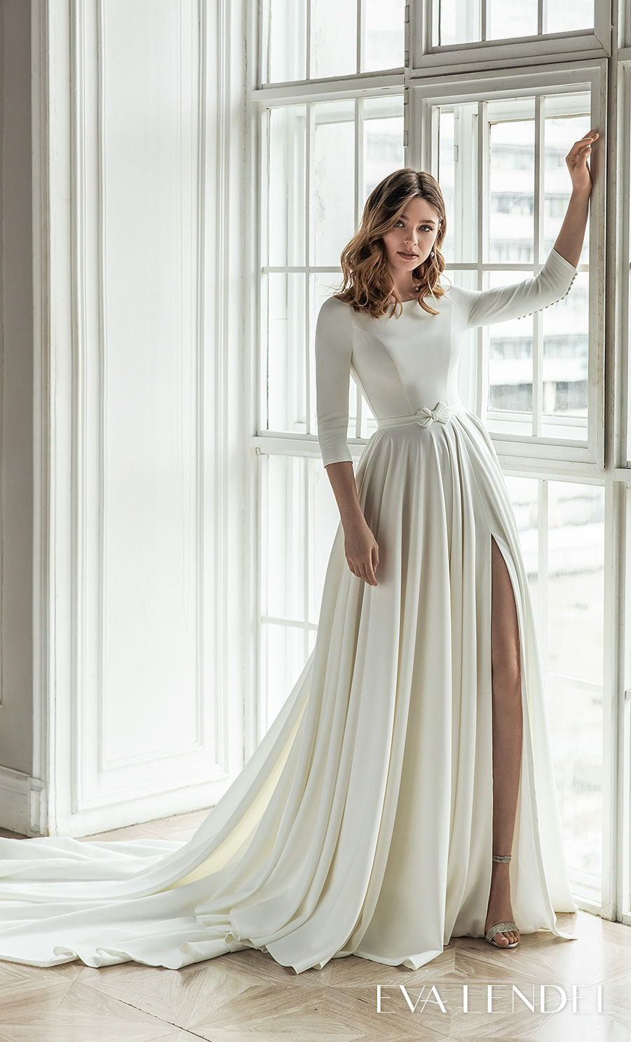 Eva Lendel 2021 Wedding Dresses Less Is More Bridal Collection Wedding Inspirasi Wedding Dresses Sheer Wedding Dress Elegant Wedding Dress [ 1485 x 900 Pixel ]