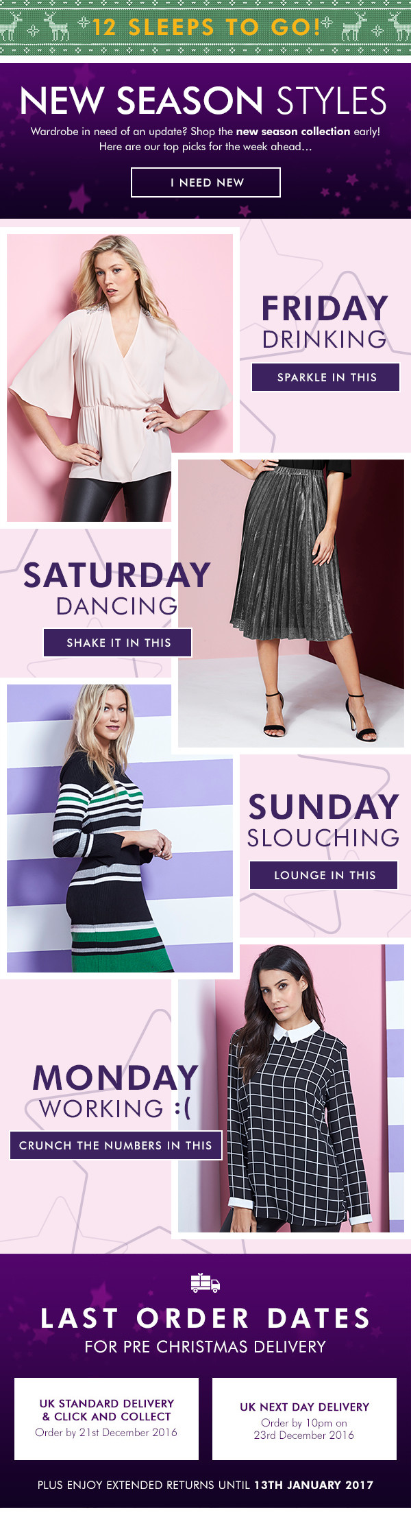 Fashion World New in email design