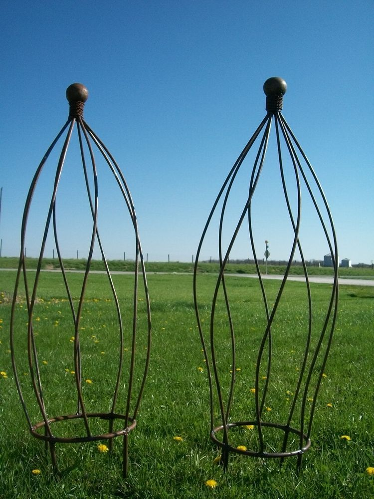 75 33 Wrought Iron Ball Top Topiary Garden Plant Support 33