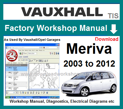Vauxhall Opel Meriva Workshop Service Repair Manual Wiring