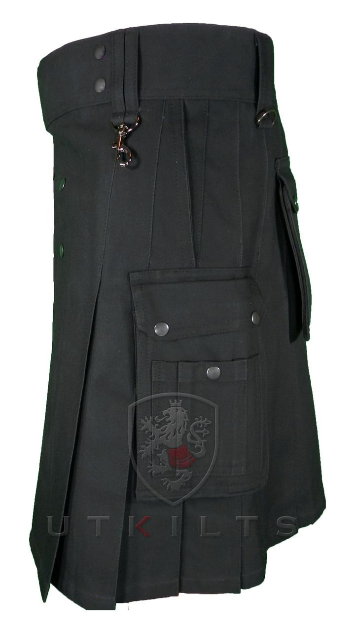 Macdonald Sporrans cinturón de kilt Céltico de piel para hombre, color negro