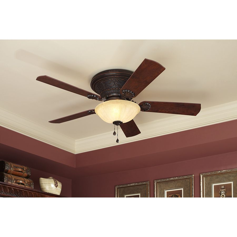 Lowes Com Ceiling Fans: Shop Harbor Breeze 52-in Specialty Bronze Flush Mount