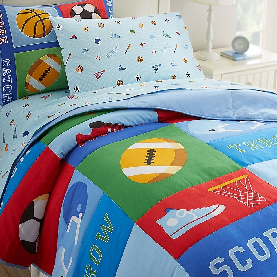 Olive Kids Game On 2 Piece Twin Comforter Set In Blue Kids