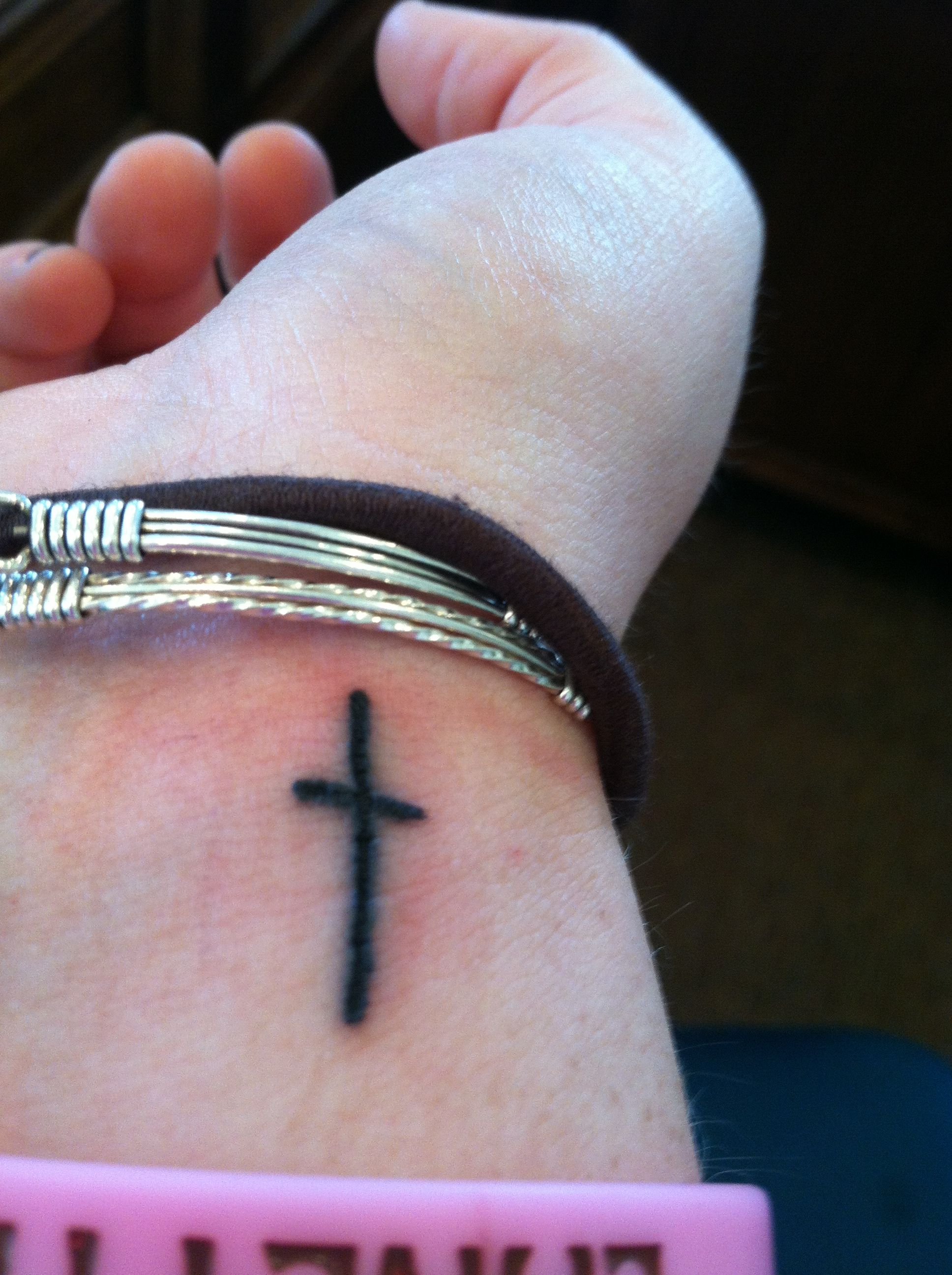 Simple Wrist Tattoo Expressing Your Love For Christ Tattoo S And