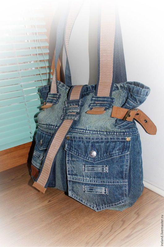 b8e4e67e0076 Женские сумки ручной работы. Ярмарка Мастеров - ручная работа. Купить Джинсовая  сумка 15. Handmade. Комбинированный, джинсовая сумка