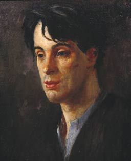 ♀ Painted Art Portraits ♀ Augustus John | Portrait of W. B. Yeats, 1907
