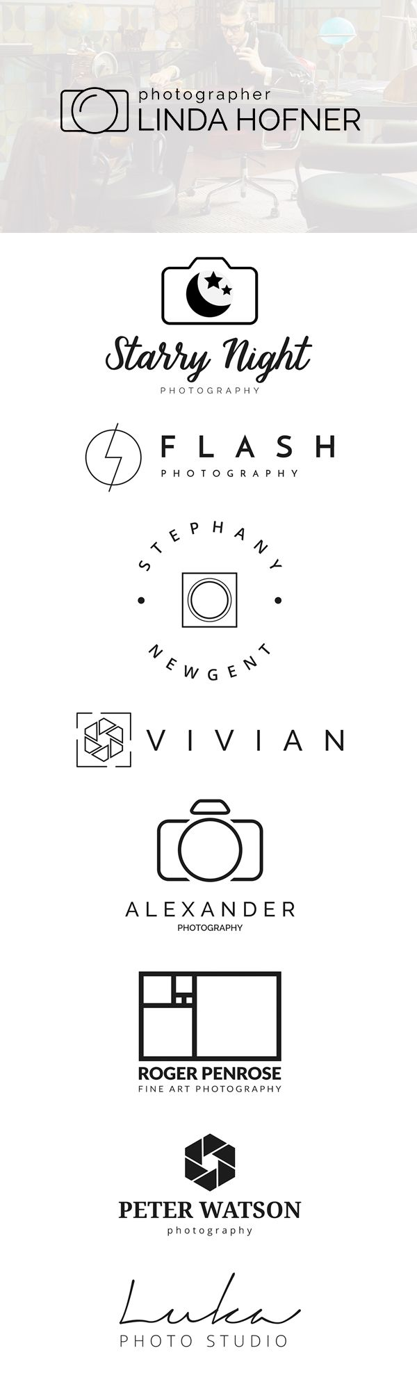 free photography logo templates psd design b logo pinterest