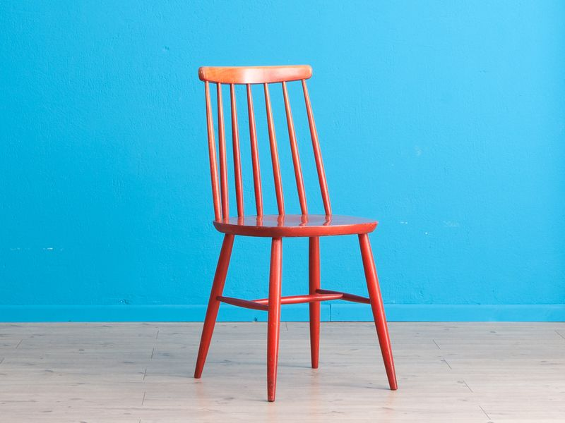 Küchenstuhl Rot ~ Er er küchenstuhl rot shabby chic stuhl von mid century