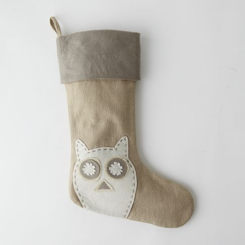 Felt owl stocking- super easy to DIY
