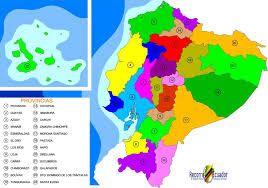 Mapa De Ecuador Y Sus Provincias Political Map Map How To Speak Spanish