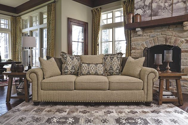 Sandstone Ilena Sofa From Ashley Home Furniture Love This For A More Formal Living Room Look Furniture Ashley Furniture Beautiful Living Rooms
