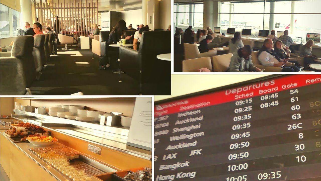Qantas Business Class Lounge Sydney International Airport Australia Business Class Lounge Business Class Travel Experience
