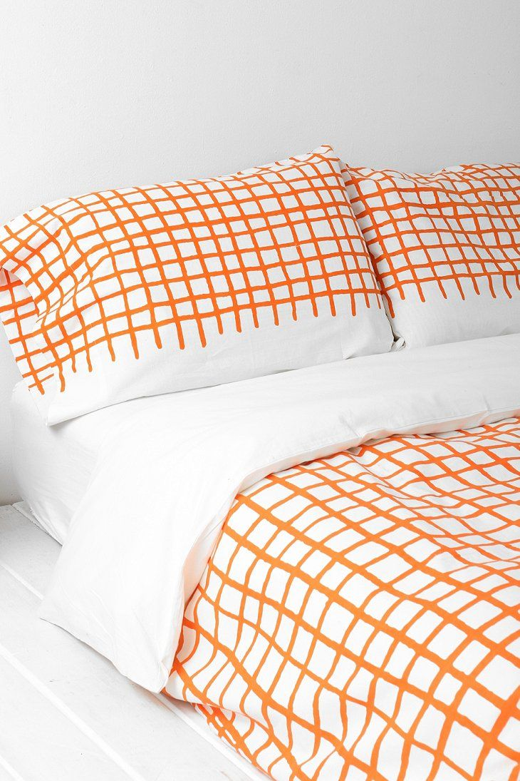 Assembly Home Hand-Drawn Grid Pillowcase - Set Of 2