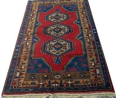 "Antique Stylish Turkish Kilim Carpet Rug ANATOLIAN Nomadic 7'9"" x 4"""
